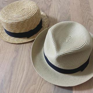 2点セット 麦帽子 カンカン帽