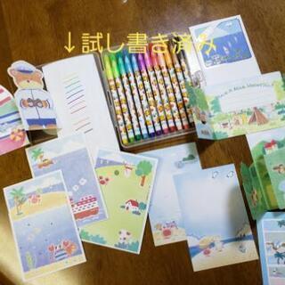 🍉夏柄のカード ポストカード 水性カラーペン