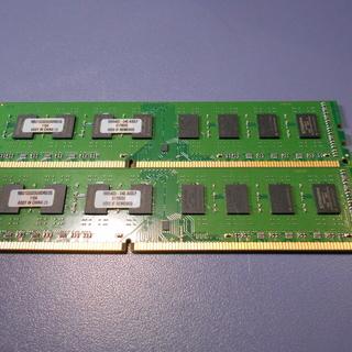 デスクトップ用メモリ DDR3 4GB(2GBx2) 中古
