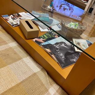 カフェテーブル ガラステーブル テーブル コーヒーテーブル  【...