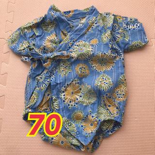 ブランシェス 70 ベビー甚平 男の子 ロンパース