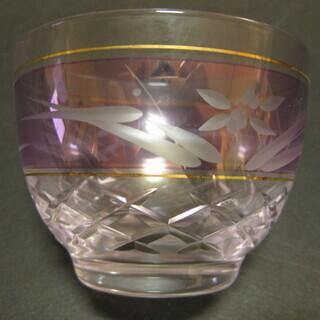 ホヤクリスタル 冷茶碗 紫 10客 新品未使用