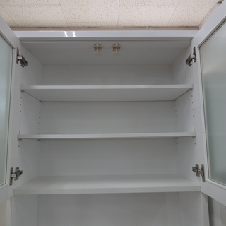 NITORI/ニトリ レンジボード 食器棚 DAHLIA-80KB-WH【ユーズドユーズ名古屋天白店】 - 日進市