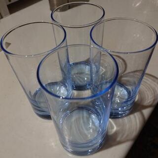 【無料】青い客用グラス4個セット