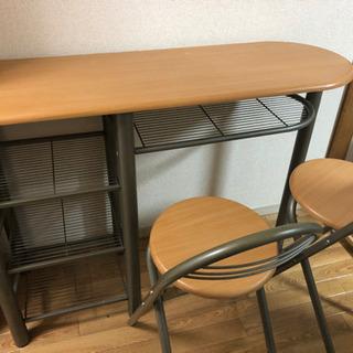 【定価5万】サイドテーブル、椅子セット