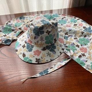 【夏を先取り!】夏用帽子 【女性用、日除け付き】