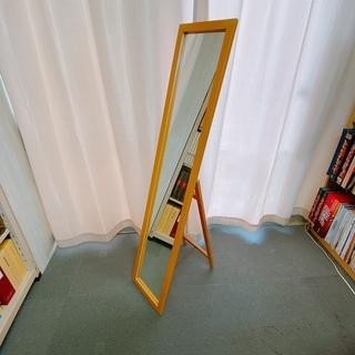 95 ニトリ製 木製スタンドミラー 幅 約30cm × 奥行 約...