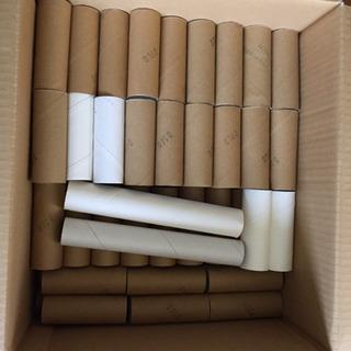 トイレットペーパーの芯86本,ラップ芯2本