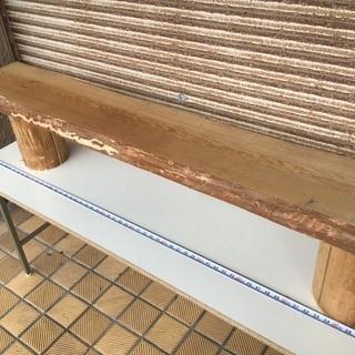 秋田杉 ベンチテーブル ラフ仕上げ 一枚板 無垢材