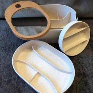 IKEA SAXBORGA:収納ボックス、ミラーのフタ付き
