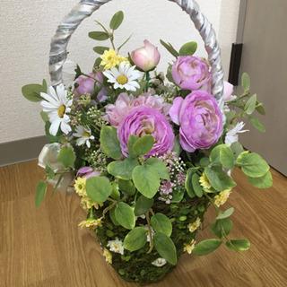 フラワーブーケ(かご型ブーケ造花)ウェディングブーケ