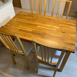 IKEA ダイニングテーブル+チェア4脚 - 浦安市