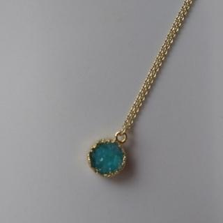 天然石ドウルージー(グリーン)のネックレス