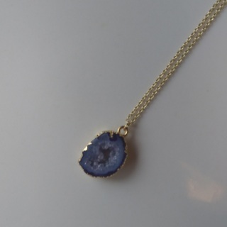 天然石ドウルージー(パープル)のネックレス