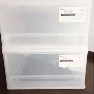 ニトリ クリアケース 押入れ収納 Mサイズ 2個セット 74×4...