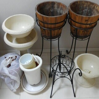 植木鉢、スタンド、等(値下げしました)