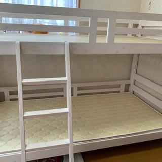 美品☆二段ベッド マットレスも付けます!値下げ