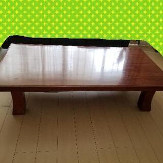 【お値下げ】天然木 花梨/かりん座敷机 座卓/ テーブル