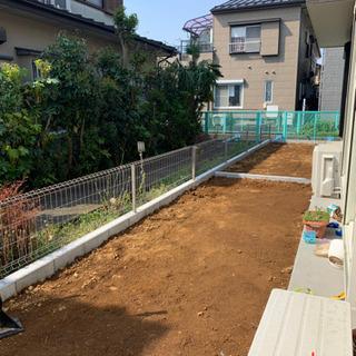 人工芝、砂利敷き、施工致します!