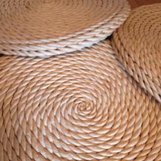 天然素材の円形藤座布団 和風モダン おしゃれ ナチュラル …
