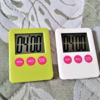 キッチンタイマー中古品 新しい電池に入れ替えました1つ¥50円
