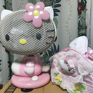 Hello kitty サインポッキー扇風機🌸と hello k...
