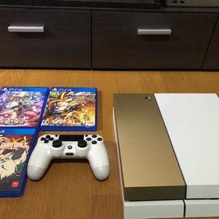 【美品】PS4 コントローラーx1 ソフト3本付き