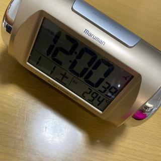 大音量目覚まし時計 カレンダー 室温計付 美品