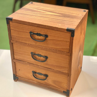 【お取り置き中】三段引き出しの木の小箱