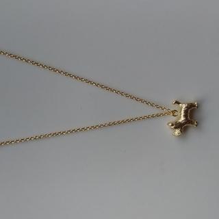 シュナウザーマットゴールドチャームのネックレス