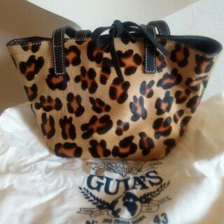 guia's  豹柄 ハンドバック 14 ×16 × 17 cm...