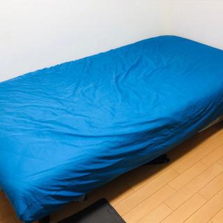 無印良品 シングルベッド 足つき シーツもつけます