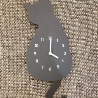 ☆ニトリ☆掛け時計 黒猫