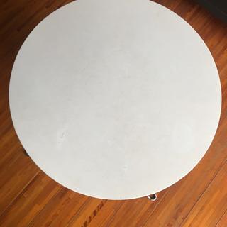 白 直径60cm 折りたたみテーブル