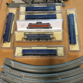 Nゲージ 鉄道模型 EF65 DD13他と線路セット