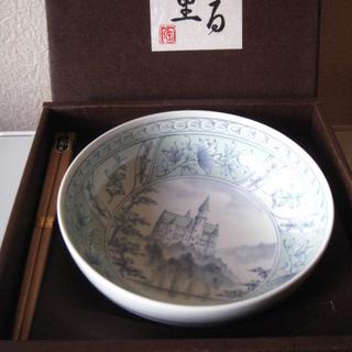新品未使用【ふる里】陶器 器&箸セット 白南天