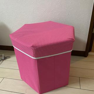 ピンク スツール 折りたたみ可能