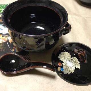 新品未使用 廣斎 金彩ぶどう むしグラタンセット 茶わん蒸し 5セット