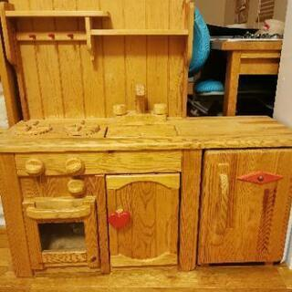 木製 おままごとキッチン 期間限定7月末まで
