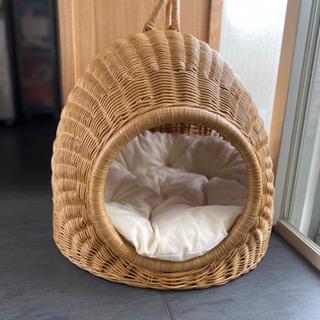 【美品・定価23760円】猫ちぐら/ラタンキャットハウス