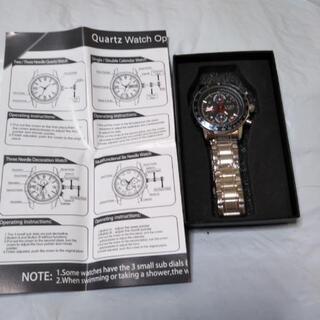 在庫処分! 新品!LIGE社 クオーツ型 腕時計 フルスチ…