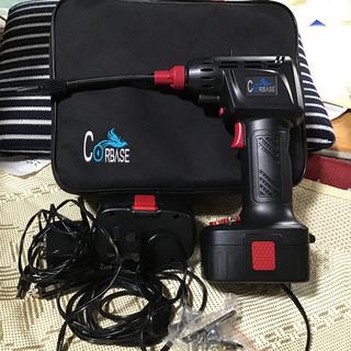 電動エアー、ポンプ。車のシュガーライターからも使用可能!