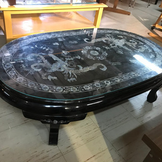 JF00690 螺鈿のローテブル 漆 座卓