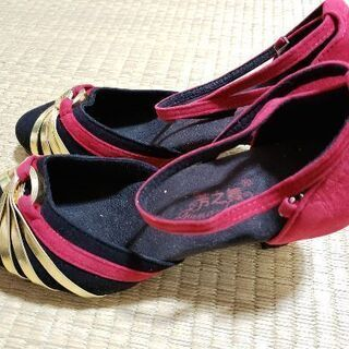 新品の社交ダンスモタンとラテン兼用靴