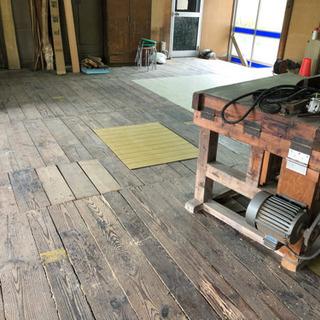 作業場の床板 (  無垢板❗️)