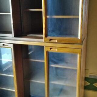 【更に値下げ中】スライド式本棚、立派なものです - 北葛城郡