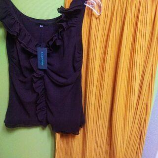 【特価✨2点】新品ブラウス、usedスカート