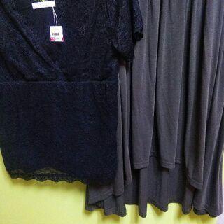 【特価✨2点】新品カットソー、usedスカート