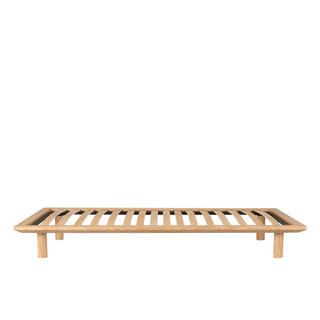 無印良品 MUJI 木製 ベッドフレーム シングル タモ材 / ...