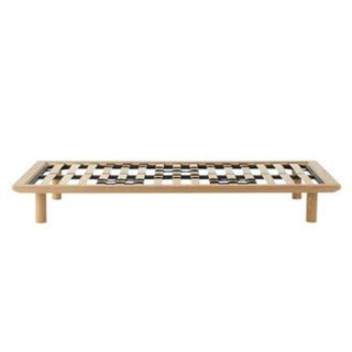 無印良品 MUJI 木製 ベッドフレーム セミダブル タモ材 /...